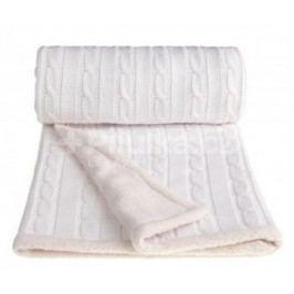 Pletená deka, bílá