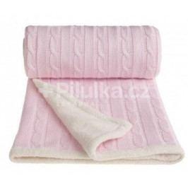 Pletená deka, růžová