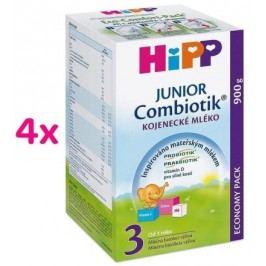 HiPP MLÉKO HiPP 3 JUNIOR Combiotik 4x900g