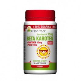 Beta Karot.15mg+Panten.10mg+PABA 10mg tob.30+15