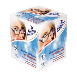 Vlhčené ubrousky Linteo na čištění brýlí 50ks