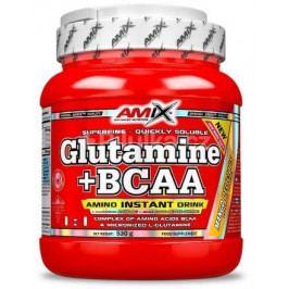 AMIX GLUTAMINE + BCAA POWDER 530g pomeranč