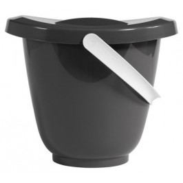 Kyblík na pleny s víkem LUMA - dark grey