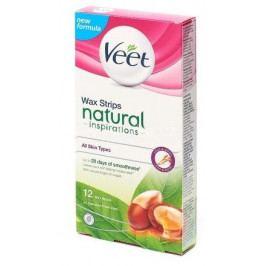 VEET Studené vosk. pásky Natural Inspirations 12 ks