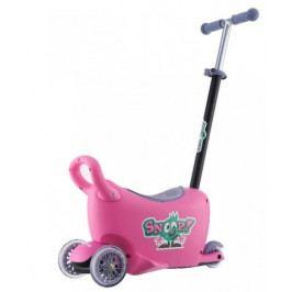 Dětské odrážedlo s vodící tyčí Snoop 3v1 Milly Mally pink
