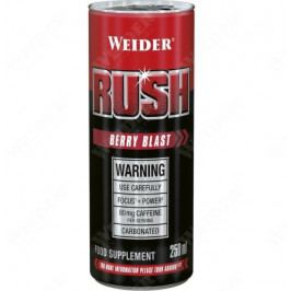 Weider RUSH RTD carbonated drink, Berry Blast, 250 ml