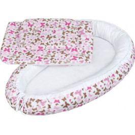 Luxusní hnízdečko s peřinkami pro miminko New Baby růžoví motýli