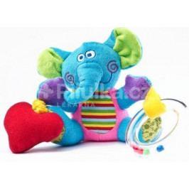 Edukační plyšová hračka Sensillo sloník s vibrací a chrastítkem