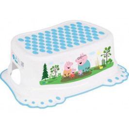 Dětské protiskluzové stupátko do koupelny Peppa Pig white-blue