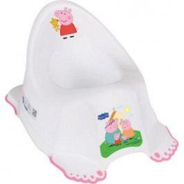 Hrající dětský nočník protiskluzový Peppa Pig white-pink