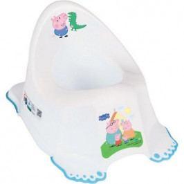 Hrající dětský nočník protiskluzový Peppa Pig white-blue