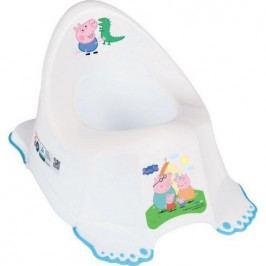 Dětský nočník protiskluzový Peppa Pig white-blue