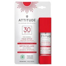 100 % minerální ochranná tyčinka na obličej a rty ATTITUDE (SPF 30) bez vůně 18,4 g