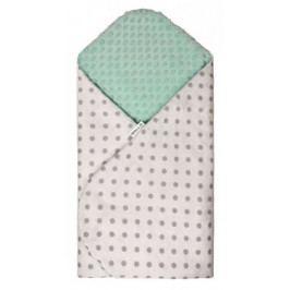 Rychlozavinovačka MINKY, white - green / grey dots