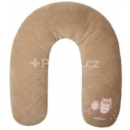 Univerzální semiškový kojící polštář Womar sovička hnědý