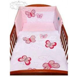 5-dílné ložní povlečení Belisima Motýlek 100/135 růžové