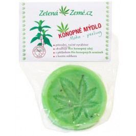 Zelená Země Konopné mýdlo peelingové Máta 80 g