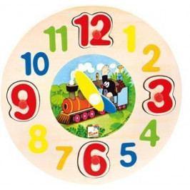 Dřevěné hodiny - Krtek