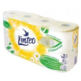 Toaletní papír LINTEO 8 rolí heřmánek, 3-vrstvý