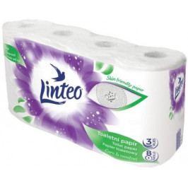 Toaletní papír LINTEO 8 rolí, bílý, 3-vrstvý, 20m