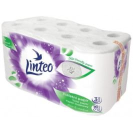 Toaletní papír LINTEO 16 rolí, bílý, 3-vrstvý, 20m