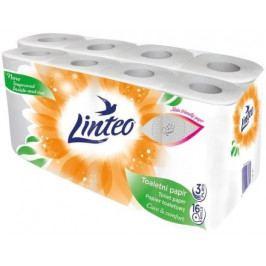 Toaletní  papír LINTEO 16 rolí, bílý, 3-vrstvý