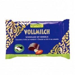 Čokoláda mléčná s mandlemi BIO 100 g Rapunzel*