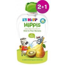 HiPP BIO 100% ovoce Hruška-Banán-Kiwi 100g 2+1 ZDARMA