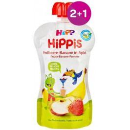 HiPP BIO 100% ovoce Jablko-Banán-Jahoda 100g 2+1 ZDARMA
