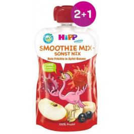 HiPP BIO Smoothie Jablko-Banán-Červené ovoce 120g 2+1 ZDARMA