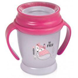 Hrníček LOVI 360 MINI 210ml s úchyty bez BPA Indian summer růžový