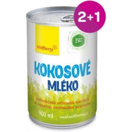 Wolfberry BIO Kokosové mléko 400 ml 2+1 ZDARMA