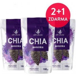 Allnature Chia semínka 100 g 2 + 1 ZDARMA