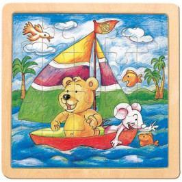 Puzzle-medvěd s myší-Oli a Lea
