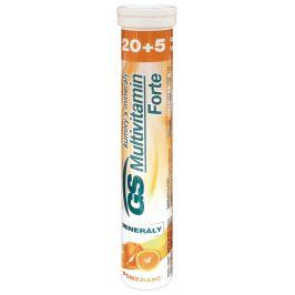 GS Multivitamín s minerály Forte pomeranč 20+5 šumivých tablet