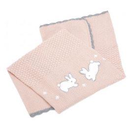 Mamas & Papas  Pletená deka Králíčci růžová