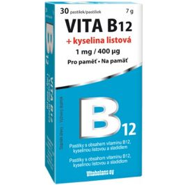 Vitabalans oy  Vita B12 + kyselina listová 1 mg/400μg 30 pastilek