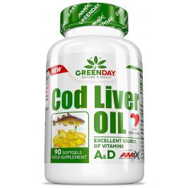 AMIX Green Day Cod Liver Oil, 90 kapslí
