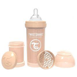 Twistshake  Kojenecká láhev Anti-Colic 260ml (dudl.M) Pastelově béžová
