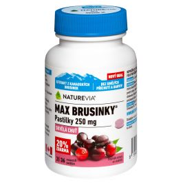 Swiss NatureVia Max brusinky pastilky 30+6 tablet