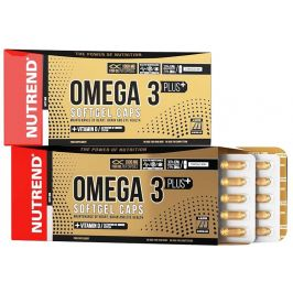 Nutrend  OMEGA 3 PLUS SOFTGEL CAPS, 120 kapslí