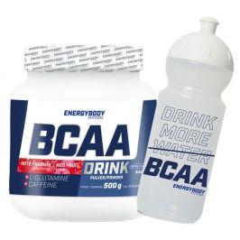 Energybody BCAA Drink 500g red fruits + sportovní lahev ZDARMA