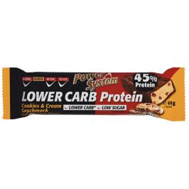 Power System  LOWER CARB Cookies&Cream Bar with 45% Protein 40g