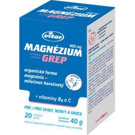 VITAR Magnézium 400mg+vitamin B6+vitamin C grep sáčky 20x2g